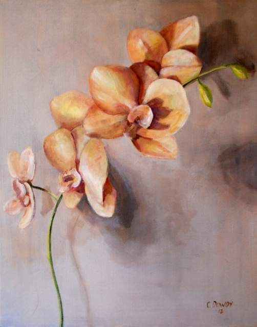 """Orchid"" original fine art by Christina Dowdy"