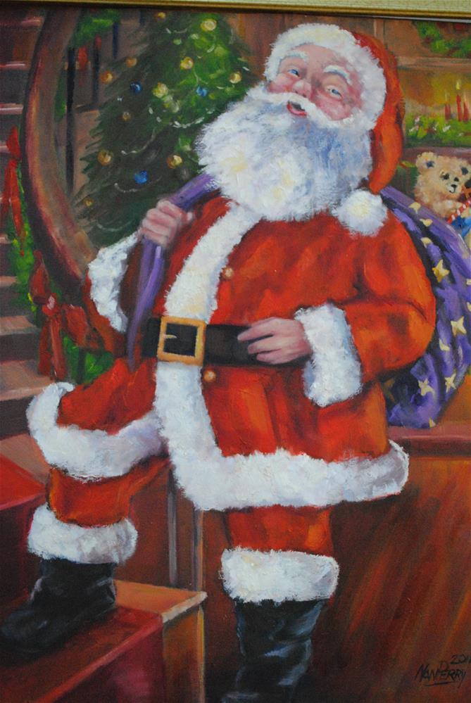 """Santa's Night Out"" original fine art by Nan Perry"