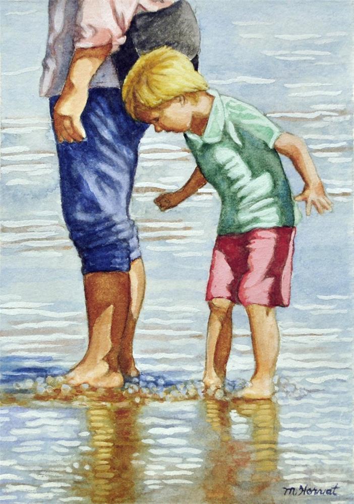 """Beach Walk"" original fine art by Margaret Horvat"