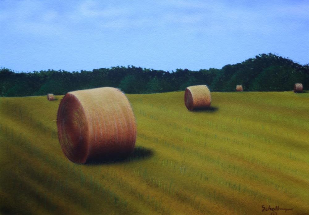 """""""August Hay"""" original fine art by Fred Schollmeyer"""