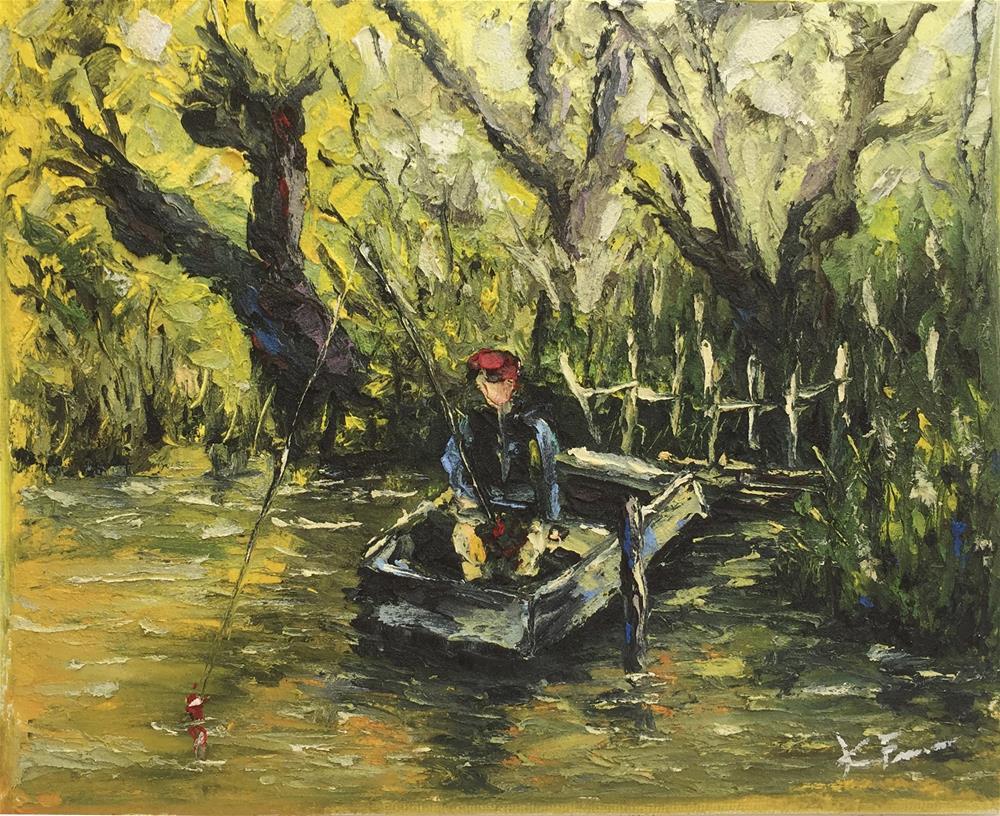 """Fishin De Swamp"" original fine art by Ken Fraser"