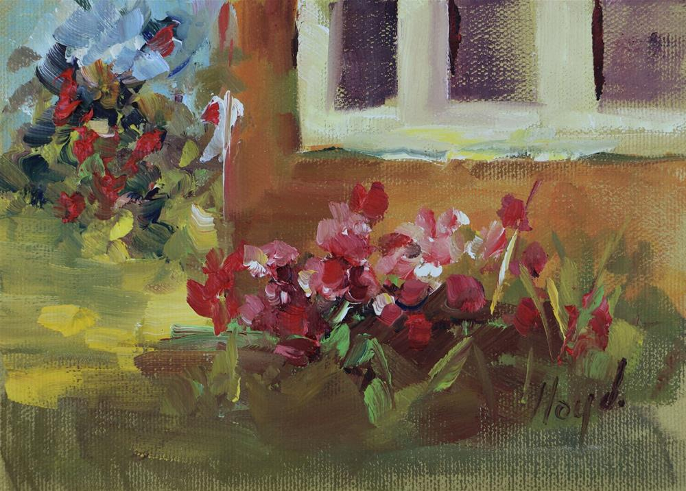 """By the Side of the House"" original fine art by Diane Lloyd"