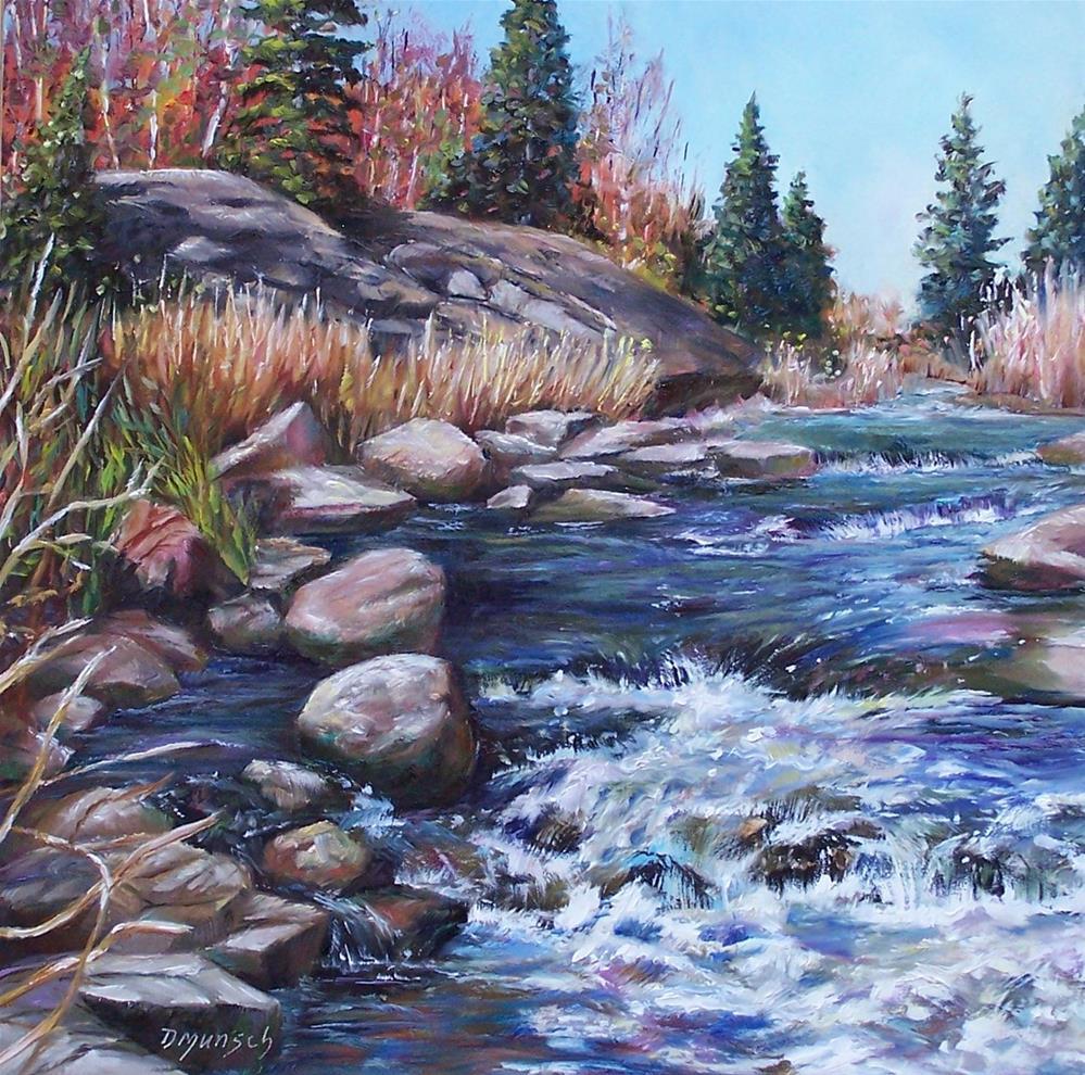 """""""Rambling River"""" original fine art by Donna Munsch"""