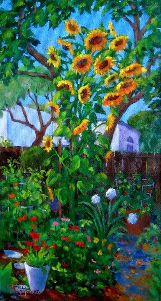 """""""Sunflower Tower"""" original fine art by Patricia Musgrave"""