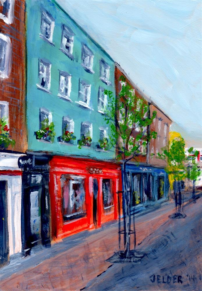 """London Street"" original fine art by Judith Elder"