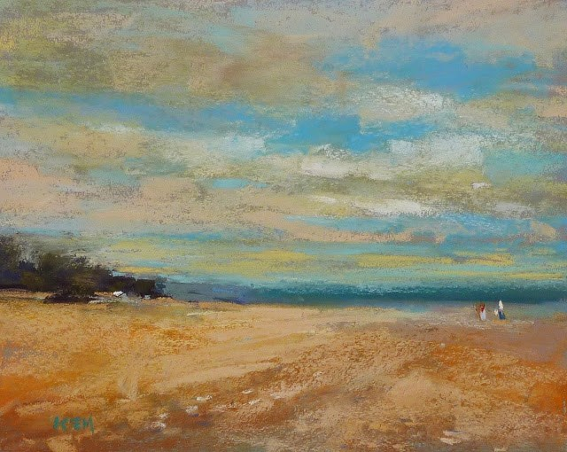 """How to Choose Pastels for a Plein Air Trip"" original fine art by Karen Margulis"