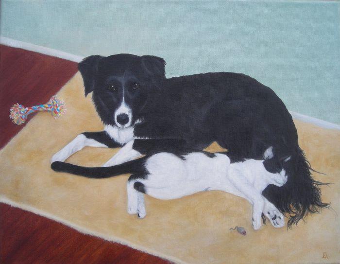 """Cuy and Butter"" original fine art by Elizabeth Elgin"