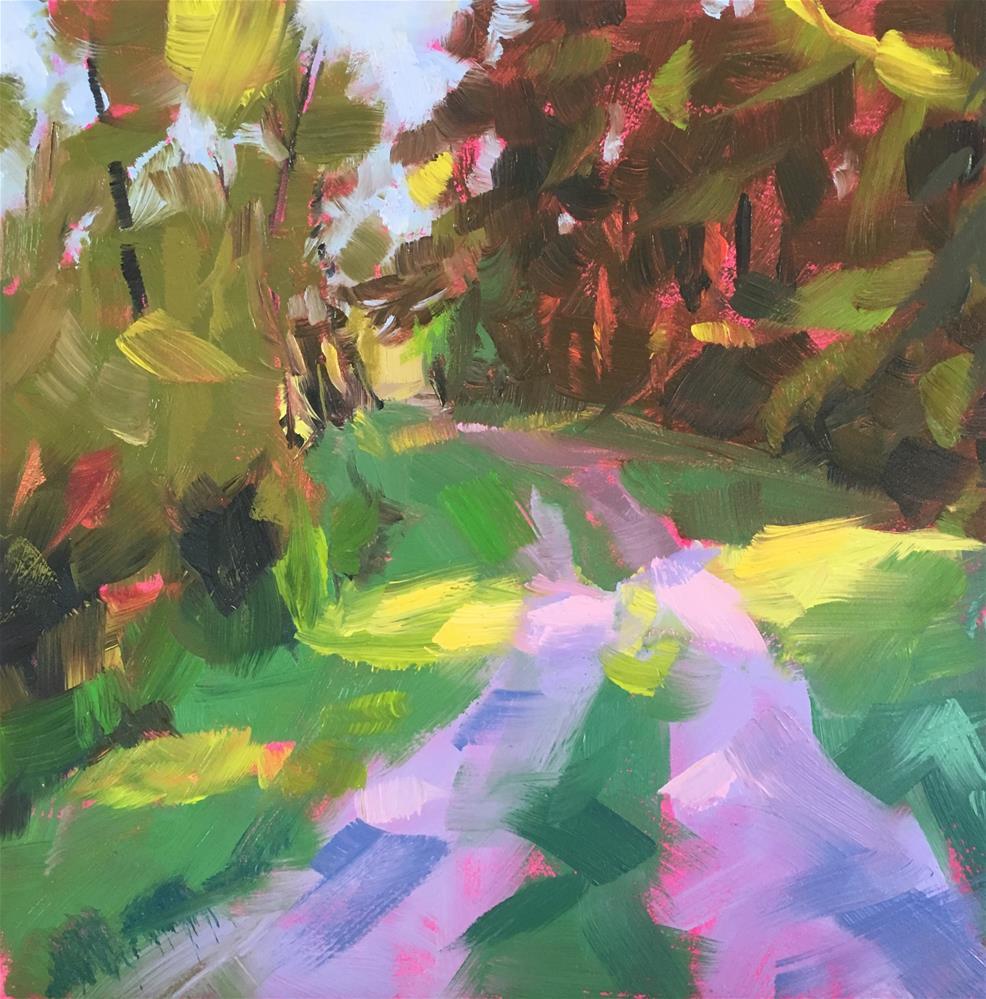 """Quiet Trail"" original fine art by Tracy Wise"