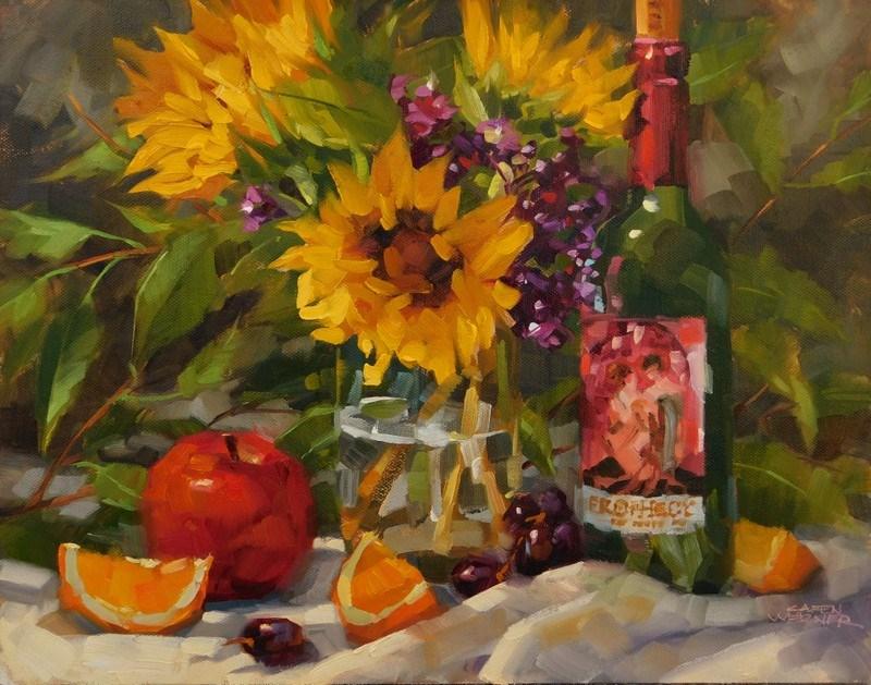 """Joyful"" original fine art by Karen Werner"
