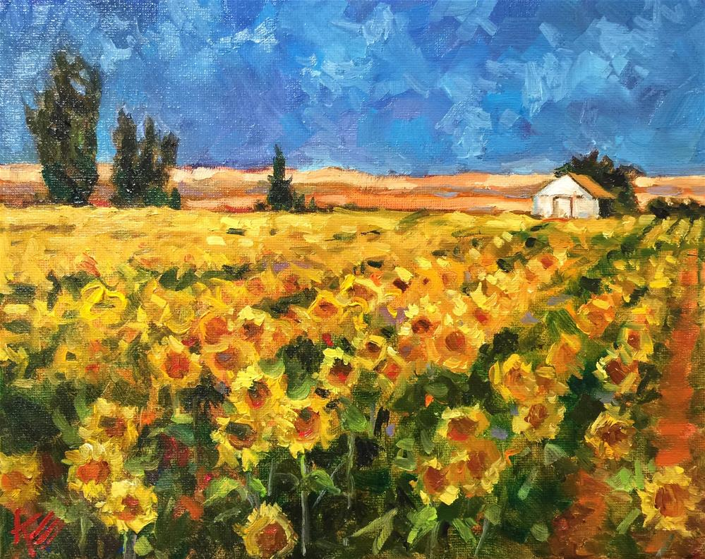 """Sea of Sunshine"" original fine art by Krista Eaton"