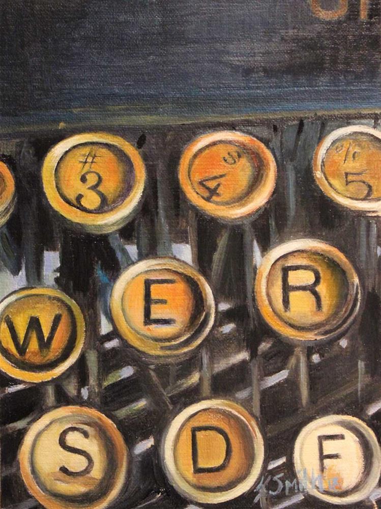 """""""typewriter keys"""" original fine art by Kim Smith"""