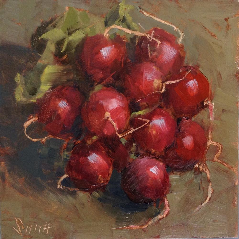 """Still Life With Radishes"" original fine art by Barbie Smith"