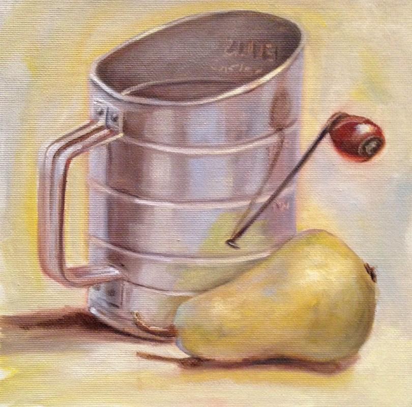 """Gramma's Flour Sifter"" original fine art by Beth Moreau"