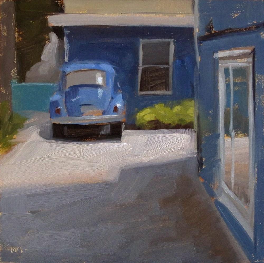 """Blue World"" original fine art by Carol Marine"