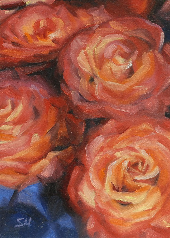 """Who Loves Roses?"" original fine art by Shinhuey Ho"