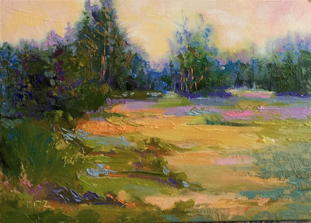 """Morning Walk"" original fine art by Charlotte Fitzgerald"