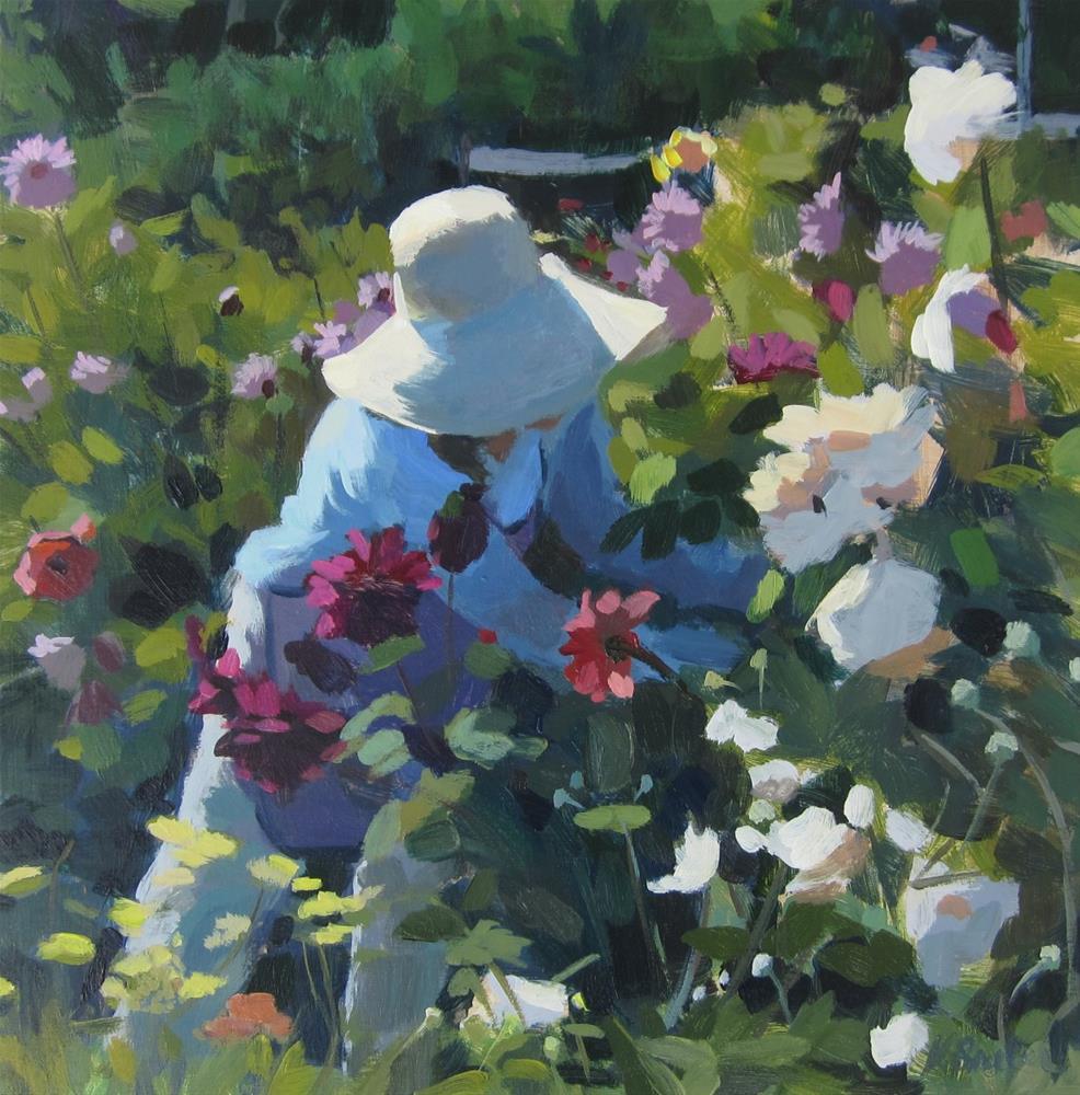 """""""The Flower Gardener"""" original fine art by Kaethe Bealer"""