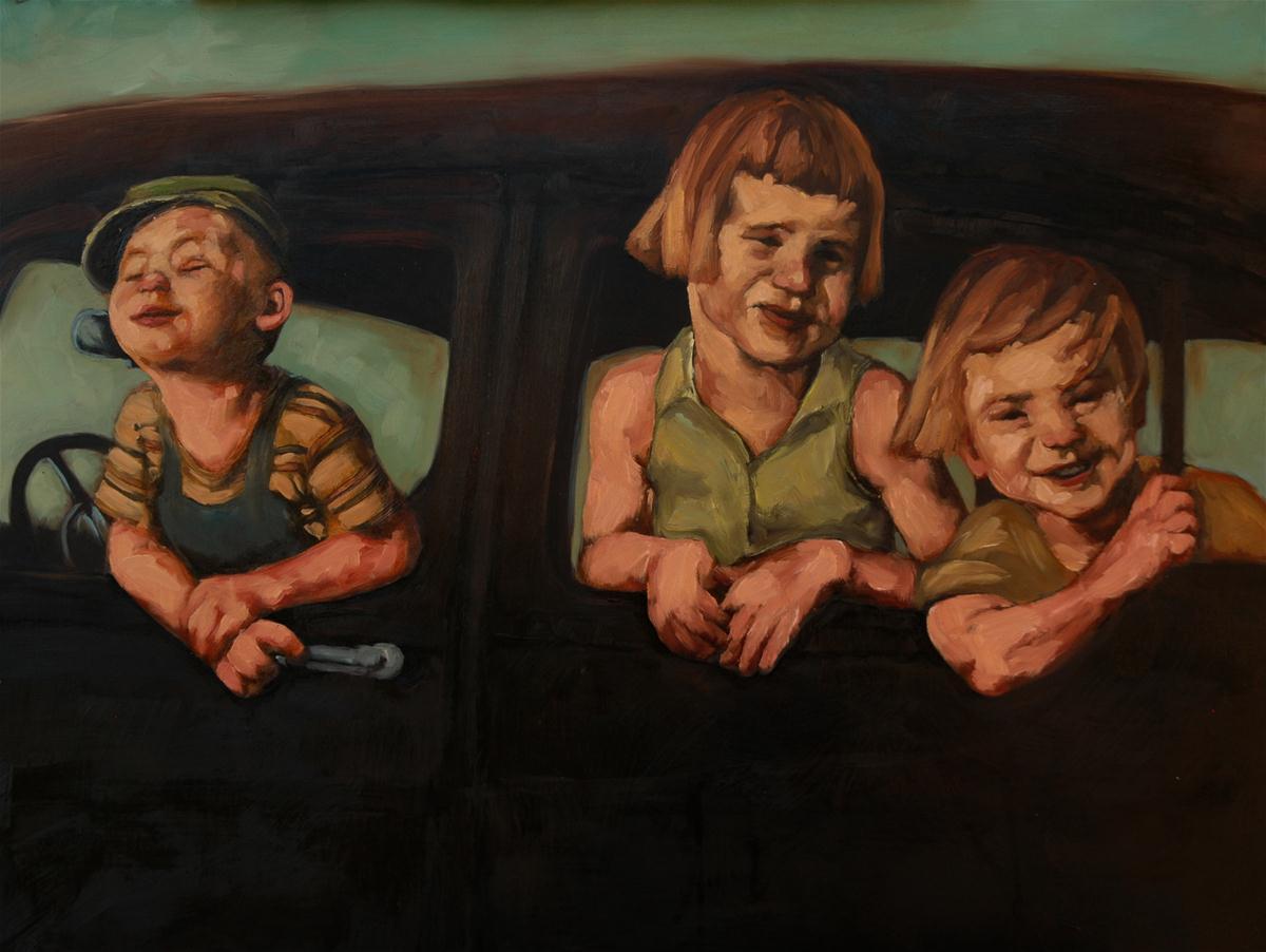 """LET IT RIDE"" original fine art by Kayleen Horsma"