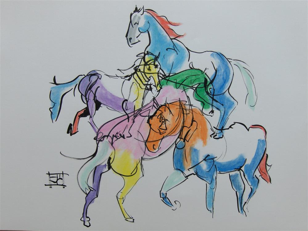 """""""Running free"""" original fine art by Arron McGuire"""