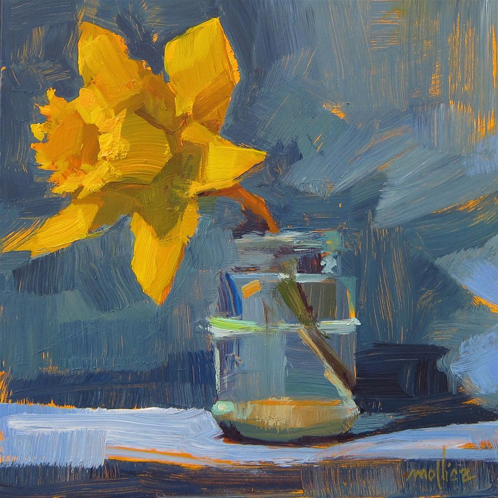 """Daffydil"" original fine art by Patti Mollica"