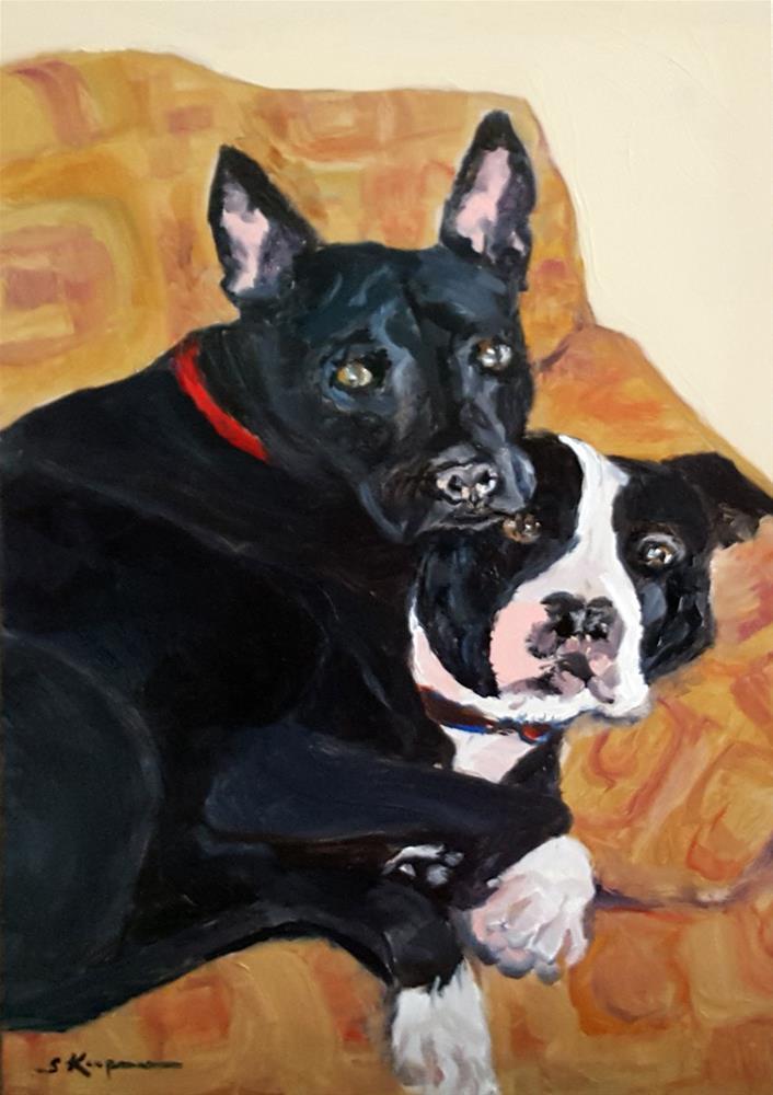 """Brotherly Love"" original fine art by Shelley Koopmann"