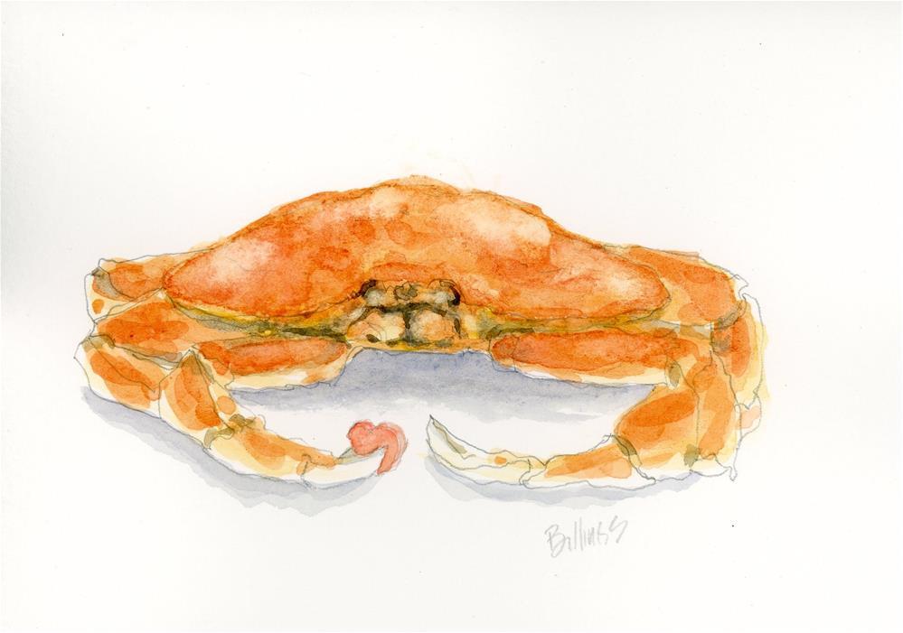 """""""Crabby Heart"""" original fine art by Susanne Billings"""