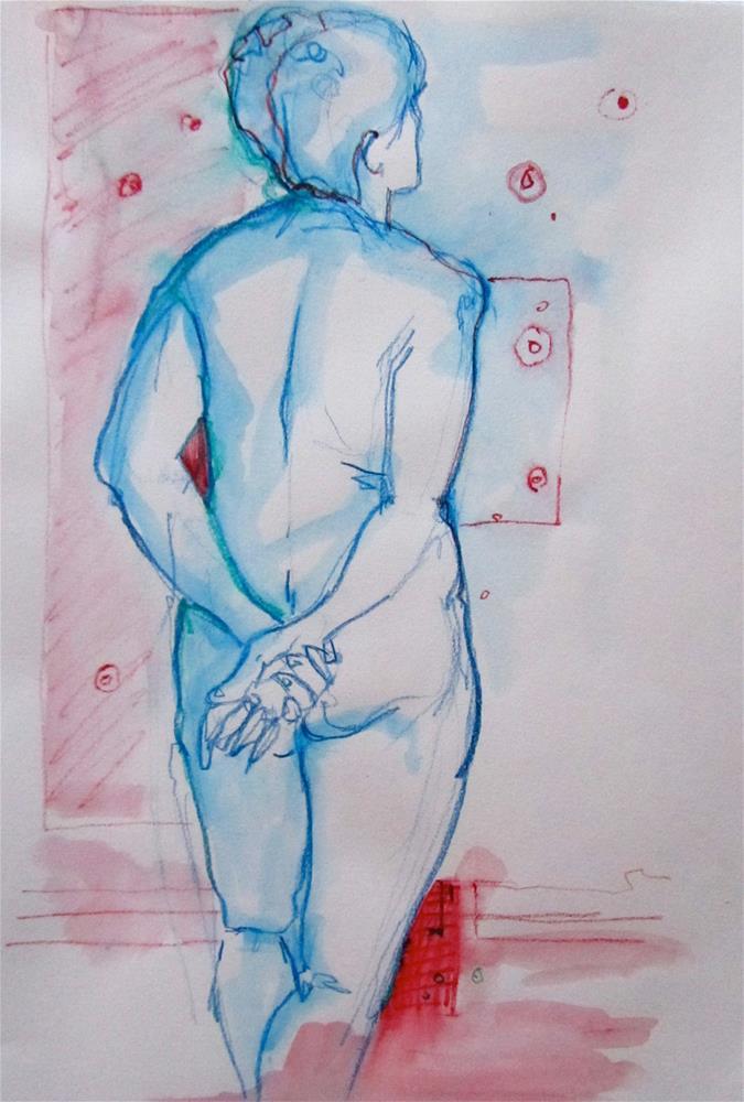 """Sketchbook Figure Study #6"" original fine art by Patricia MacDonald"