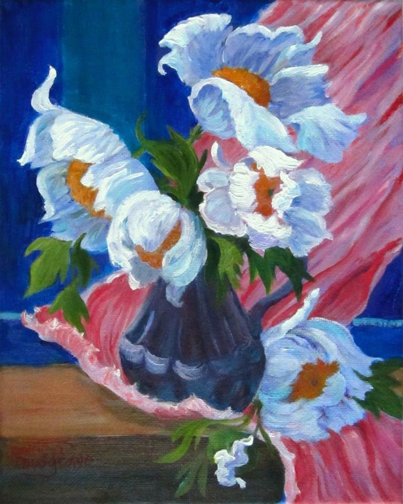 """Matilija Poppies"" original fine art by Patricia Musgrave"