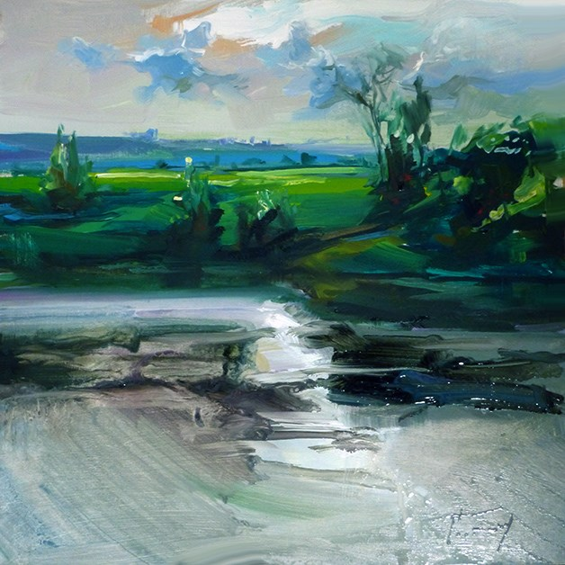 """Schöne Fluss"" original fine art by Jurij Frey"