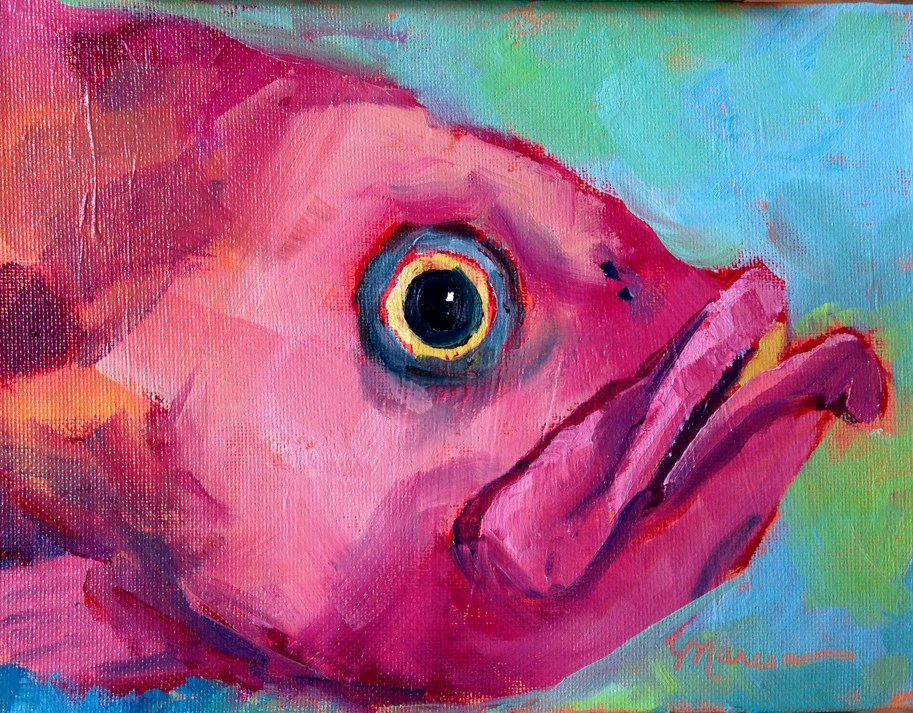 """""""This Fish Just Wants to Have Fun"""" original fine art by Marcia Hodges"""