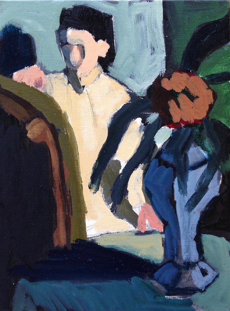 """Degas' Woman With Chinese Vase II"" original fine art by Pamela Hoffmeister"