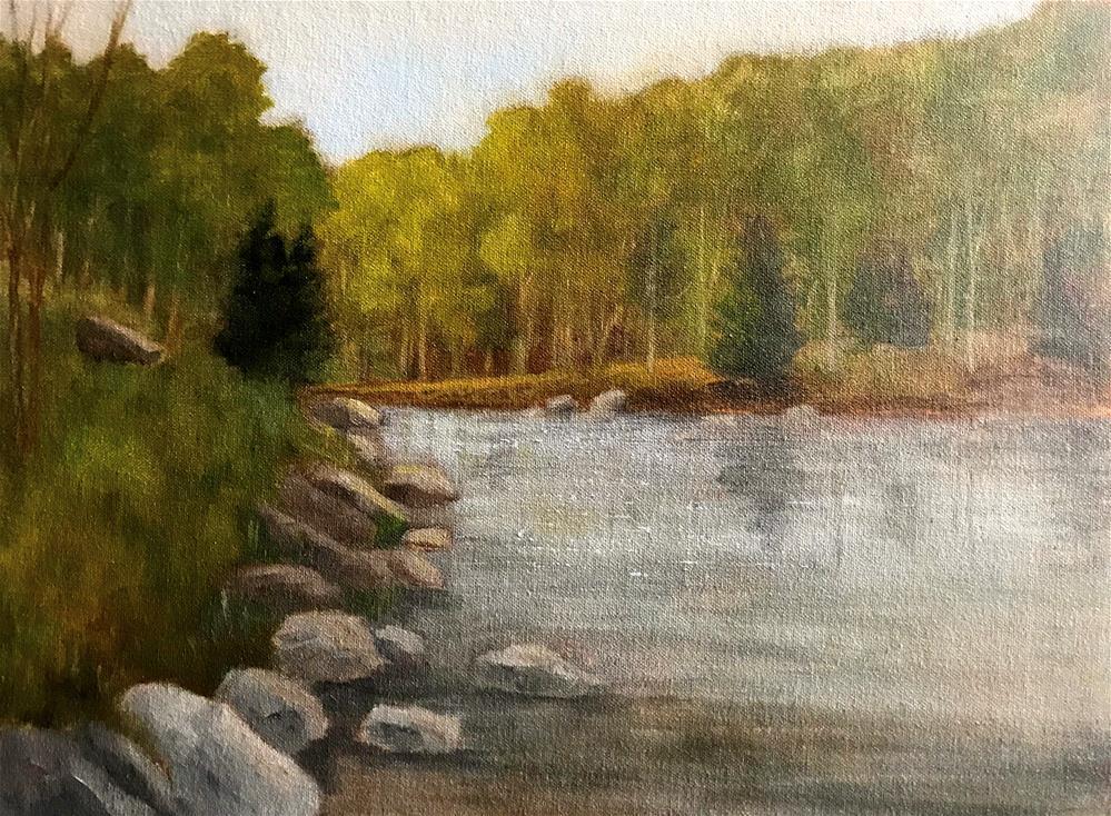 """rocks along the bank"" original fine art by Betty Argiros"