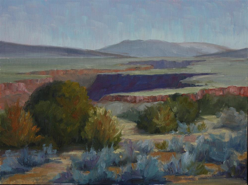"""Blue Path to the Gorge"" original fine art by Sheila Marie"