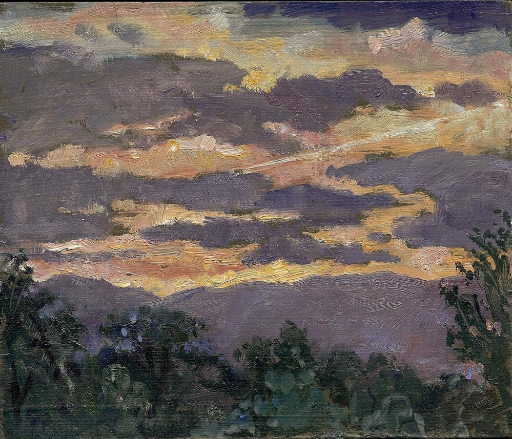 """Berkshires Sunset"" original fine art by Thor Wickstrom"