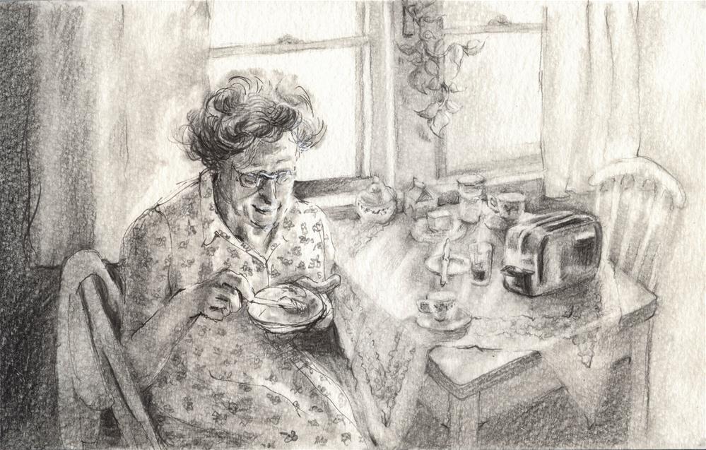 """Grandmother's Morning"" original fine art by Geri Graley"