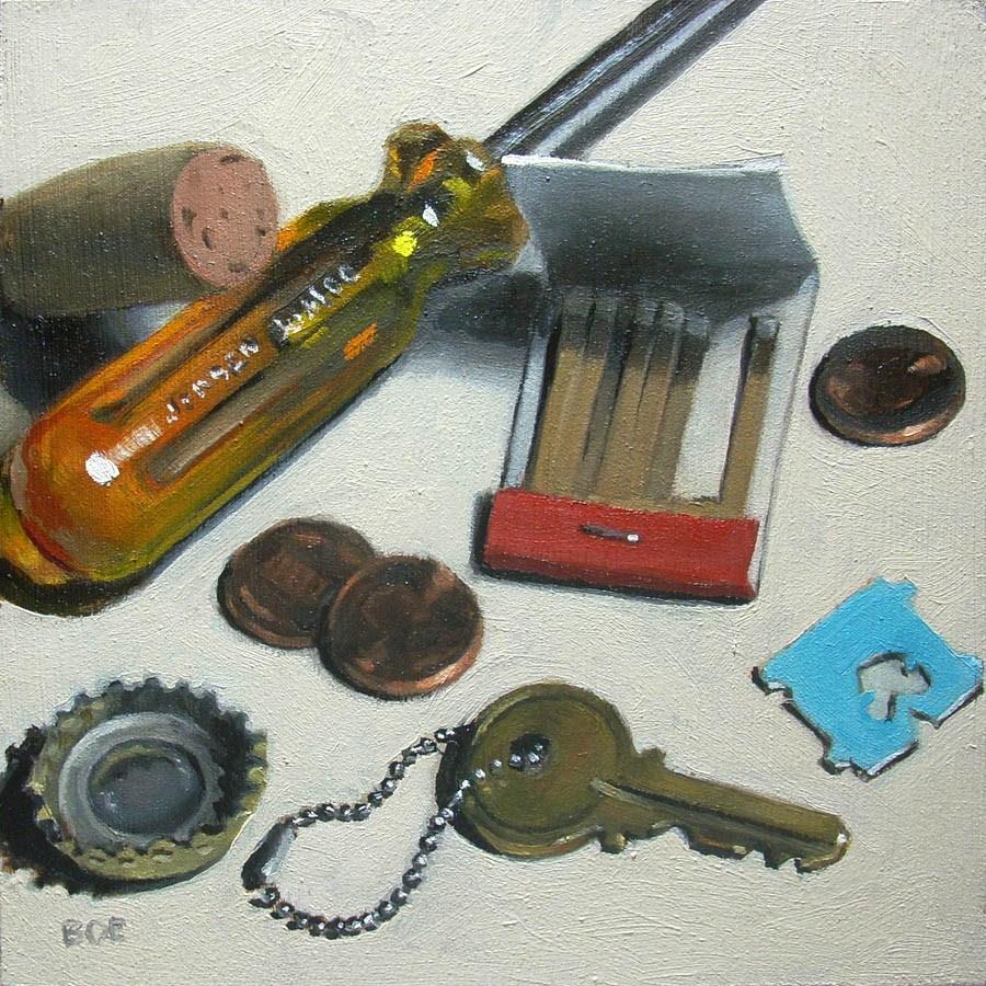 """Junk Drawer"" original fine art by Karen Boe"