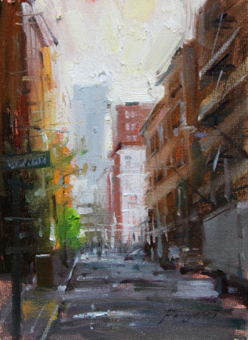 """New York City"" original fine art by Fongwei Liu"