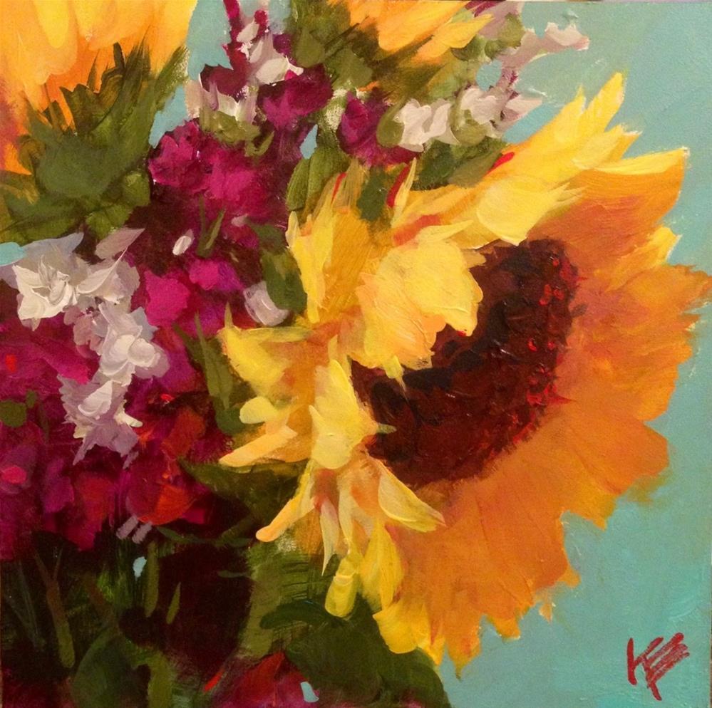 """Always - Acrylic  on Gesso board"" original fine art by Krista Eaton"