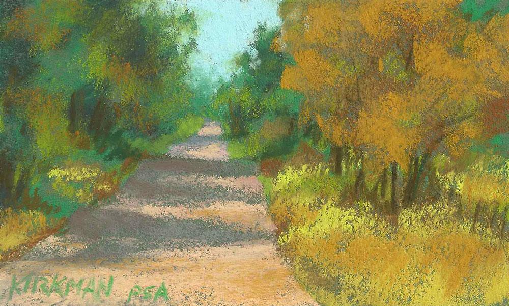 """Road Sketch 24"" original fine art by Rita Kirkman"