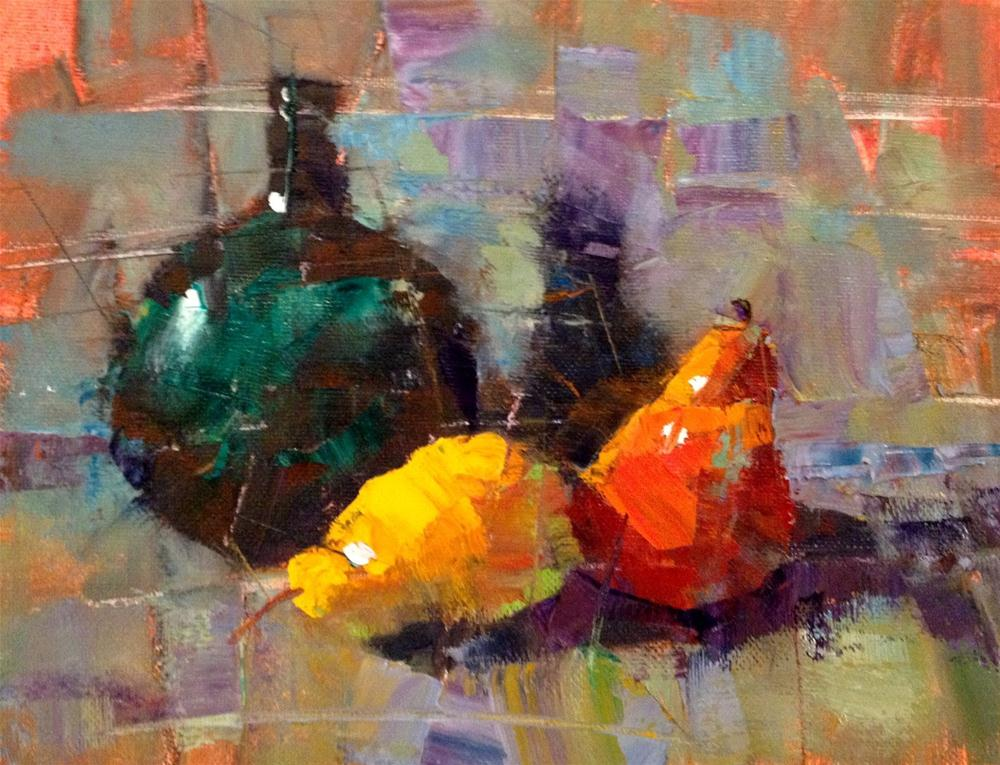 """The Fractured Still Life, 10x8"" original fine art by Ann Feldman"