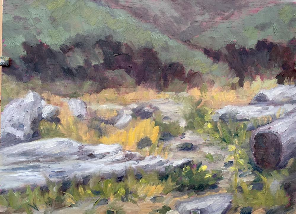 """Beach at Arch Cape, Oregon"" original fine art by Allison Doke"