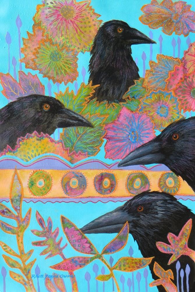 """Watching You"" original fine art by Rhett Regina Owings"