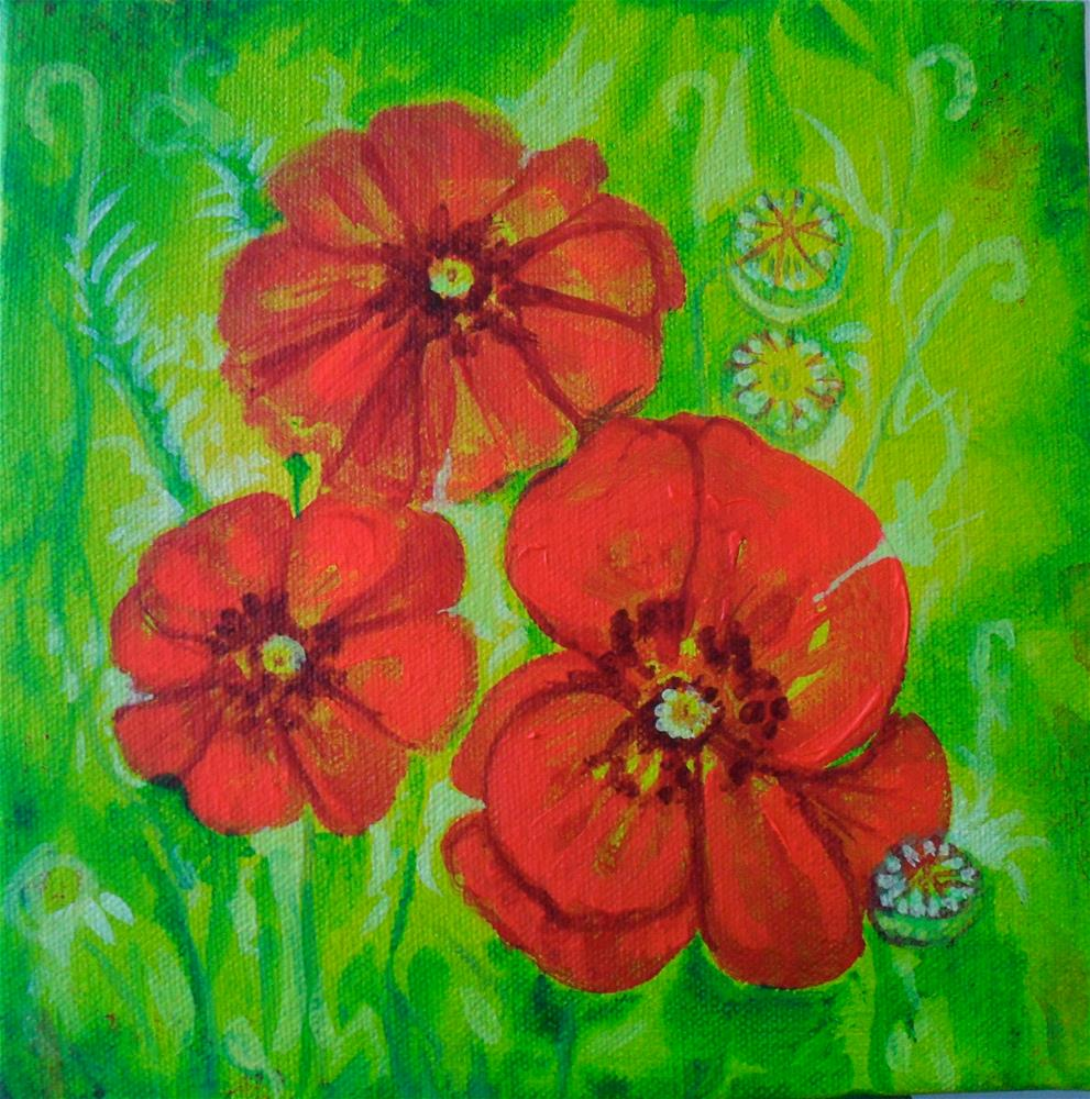 """The Popular Poppy"" original fine art by Karen Roncari"