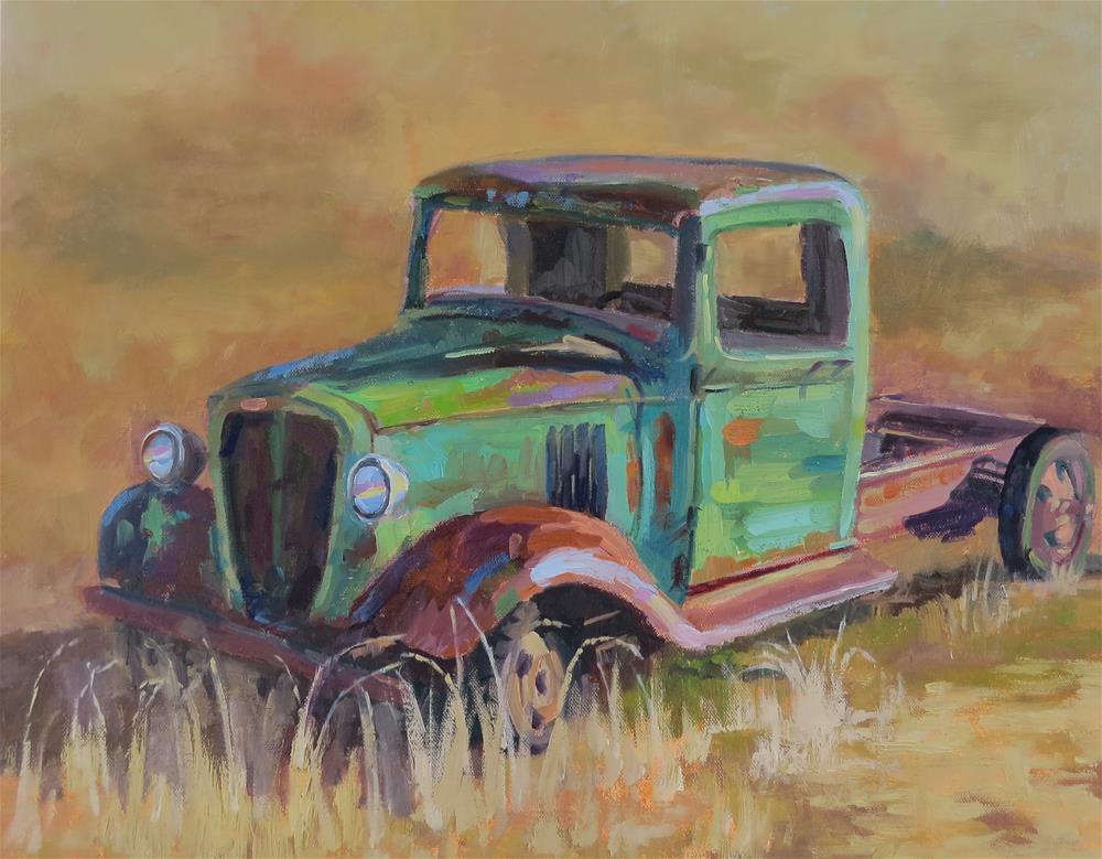 """keep On Truckin'"" original fine art by Pam Holnback"