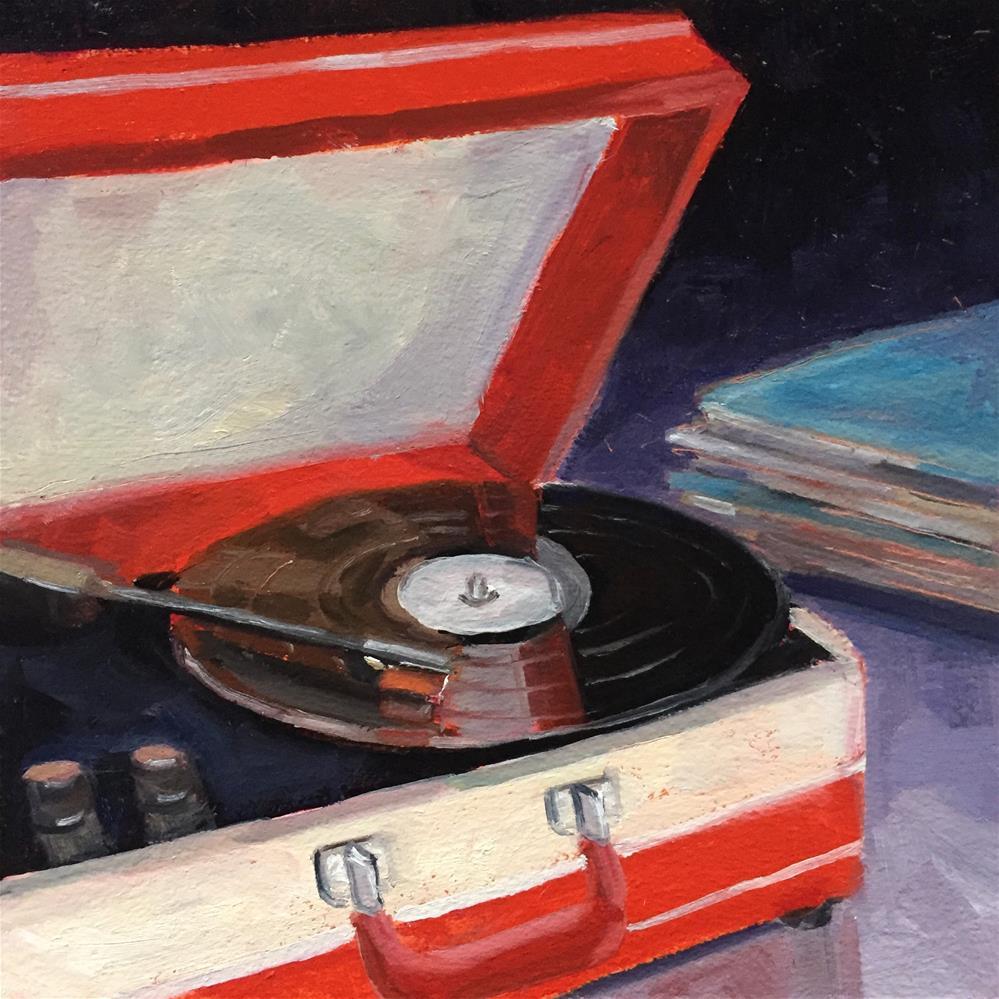 """Portable Record Player"" original fine art by Lisa Sotero"