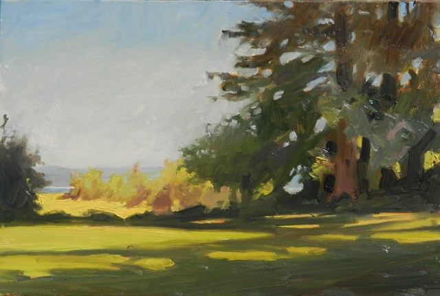 """""""Dosewalips Day Park day of plein air painting with Robin And Maury Weiss"""" original fine art by Robin Weiss"""