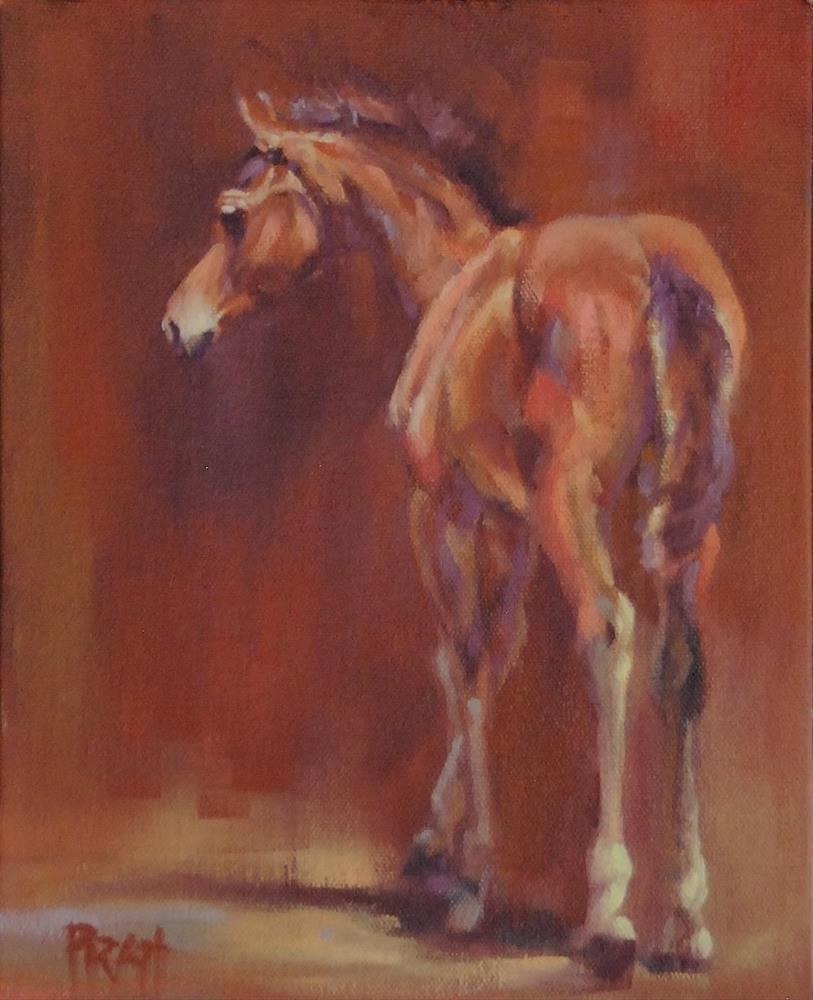 """Walking into Red"" original fine art by Jennifer Pratt"