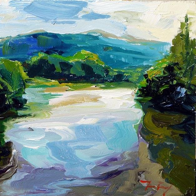 """""""flow"""" original fine art by Jurij Frey"""