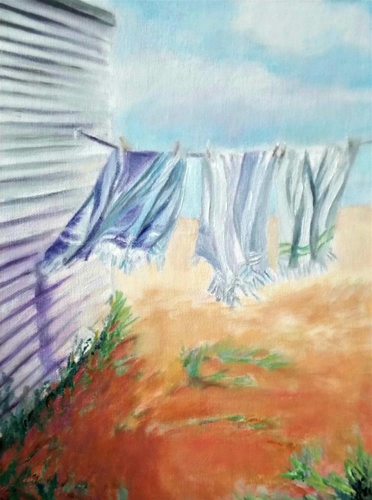 """Warm Beach Breeze"" original fine art by Dana C"