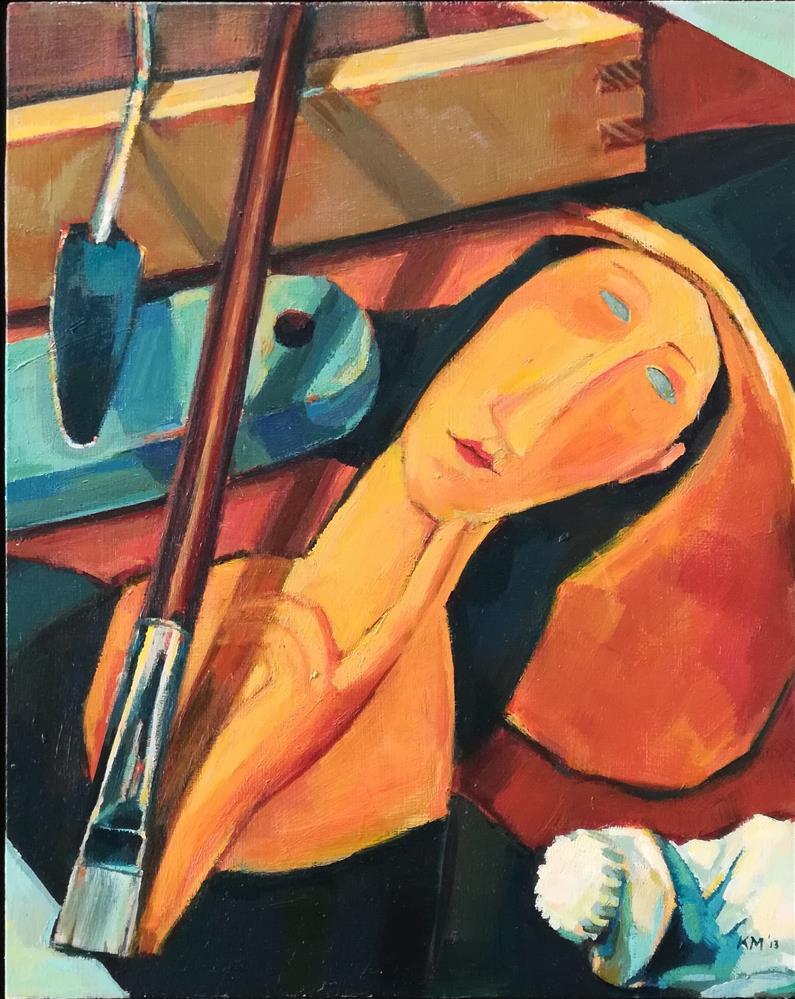 """Master Class with the Muse"" original fine art by Katya Minkina"